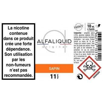 etiquette alfaliquid sapin 11mg