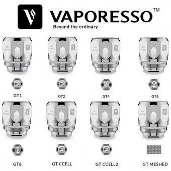 collection de 8 résistances vaporesso