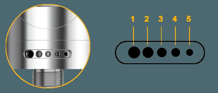 nautilus 2 aspire airflow