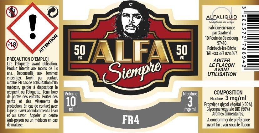 eliquide tabac fr4 alfa siempre